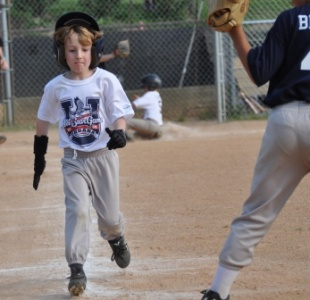 Charlie running out a base hit
